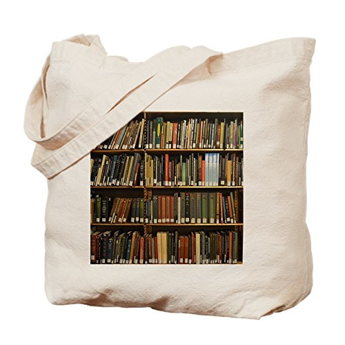 CafePress Bücherregal-Tragetasche, canvas, khaki, S -