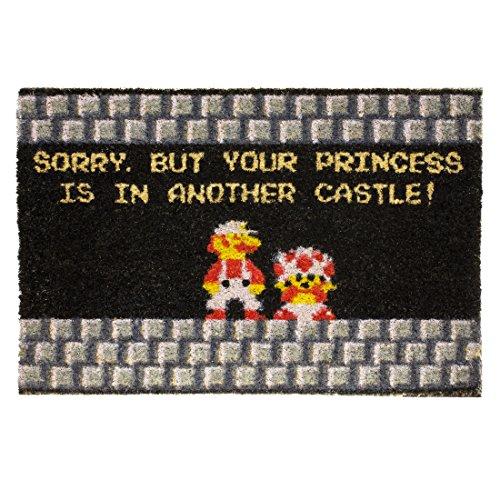 getDigital Your Princess is in Another Castle Nerd Fußabtreter Türvorleger Schmutzfänger Fußmatte aus Kokosfasern Mehrfarbig 60 x 40 x 2 cm