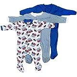 #4: EIO® Mini Berry Long Sleeve Cotton Sleep Suit Romper Set of 3 For Boys (0-3 months)