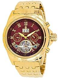 Burgmeister Royal BM127-249 - Reloj de caballero automático, correa de acero inoxidable color oro