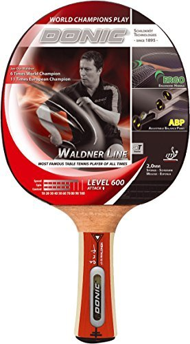 Donic Waldner 600 Table Tennis Racquet Plus Cover with Pocket, 26cm (Red)