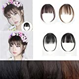 #10: black brown : IGEMY Pretty Girls Clip On Clip In Front Hair Bang Fringe Hair Extension Piece Thin