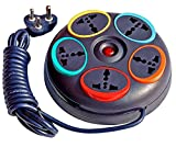 #10: Multi Socket Extension cord 3 Pin Extension Box 6amp. 240V Provided with 3 Meter Heavy Duty Wire