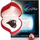 Geschenke 24: Sternschnuppe kaufen - Echte 4-6g Meteoriten mit personalisiertem Echtzeits-Zertifikat hier als romantisches Geschenk bestellen und verschenken