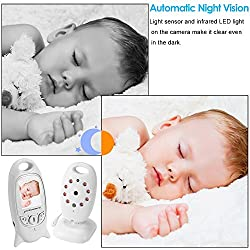 """Baby Monitor Baby Monitor Wireless Live Camera + Talk Back Two Way Audio + Night Vision Temp Sensor + Long Term Signal + Built-in 8 Lullaby to Comfort Baby + 2 """"LCD Screen + Baby Camera Keep an Eye on Baby + Baby Pet Video Monitor Nanny Camera, Home Surveillance Camera For Home Security System XC305"""