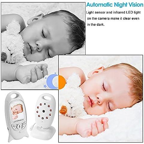 Babyphone Wireless Live Kamera + Talk-Back Zwei-Wege Audio + Nachtsicht Temp Sensor + Langzeit-Signal + Eingebautes 8 Wiegenlied Zu Komfort Baby + 2