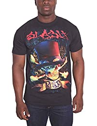 Slash Mens T Shirt Black Rock and F*ck N Roll Album Skull Logo Official