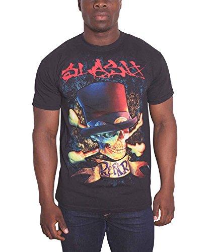 Slash Rock and F*ck N Roll Album Skull Logo offiziell Herren Nue Schwarz T Shirt - Slash Skull T-shirt