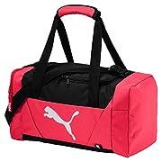 PUMA Fundamentals Sports Bag Graphic XS Paradise RosaDati:o Materiale: 100% poliestere poliestereo Dimensioni: Larghezza di circa 38 cm, altezza circa 19 cm, profondità 19 cmo Colore: Paradise rosa (rosa / nero)o Fabbricante: PUMA
