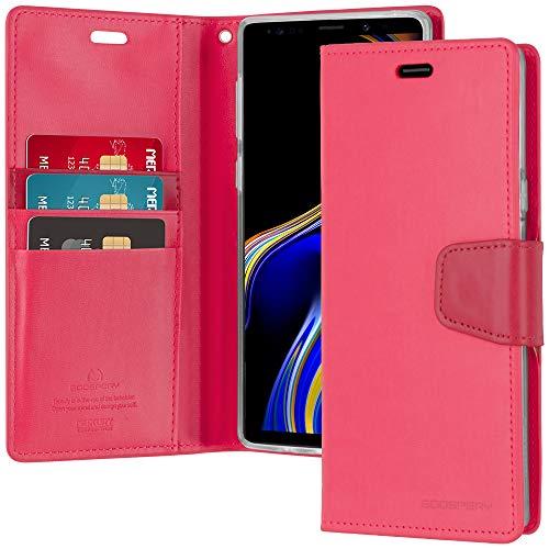 Goospery Sonata Schutzhülle für Samsung Galaxy Note 9 (2018) Leder Stand Flip Cover NT9-SON, hot pink - 3 Galaxy Note Samsung Tmobile