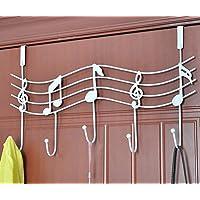 WE-WIN Music Note Style Metal Coat Hanger Organizer Hooks Hanger Holder Wall Door Decor