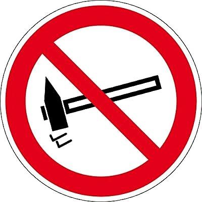 Verbotszeichen - Einschlagen verboten - Aluminium Selbstklebend