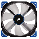 Corsair CO-9050048-WW ML Series ML140 Pro LED Blue 140 mm Low Noise High Pressure Premium Magnetic Levitation LED Fan - Black/Blue