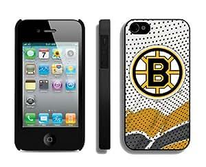 Bon Marché Coque pour Apple iPhone 4S NHL Bruins de Boston 4Best iPhone 4Coque