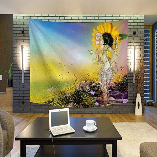GUOXAOHAO Wandteppich Einzigartige Landschaft Sonnenaufgang Wandteppich Wandbehang Wandteppiche Wald Tagesdecke Tagesdecke Yogamatte Decke Bett Tischdecke, 9.145x200cm (Needlepoint Kits Einfach)
