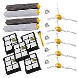 aotengou Accesorio para Irobot Roomba Rueda de rueda + Filtro HEPA + Reemplazo del kit de cepillo...