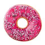 ubabamama Sweet Donut Foods Kissenbezug rund Donuts Kopfkissen weich Plüsch Kissen Fall Rückenkissen Toys e