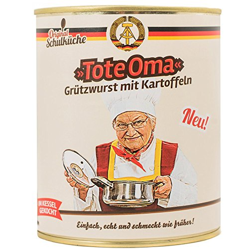 """Preisvergleich Produktbild Original DDR""""Tote Oma"""" Grützwurst mit Kartoffeln inkl. ostalgische Geschenkkarte ALLES GUTE / DDR Traditionsprodukte und DDR Waren / für alle (N) Ostalgiker"""