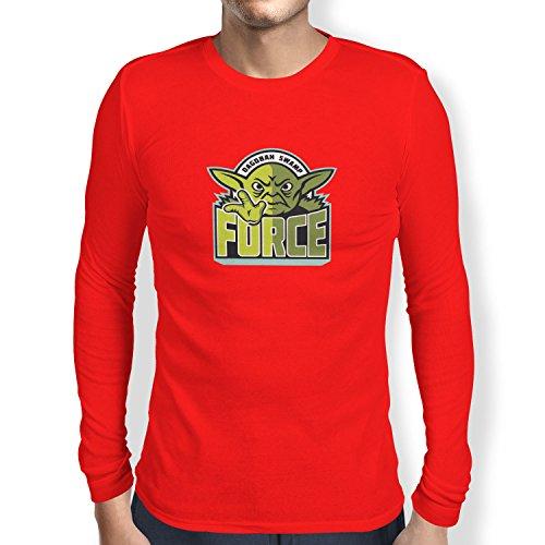 TEXLAB - Dagobah Swamp Force - Herren Langarm T-Shirt Rot