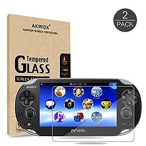 2 Stück Schutzfolie für Sony Playstation Vita 1000 Akwox 9H Härtegrad Panzerfolie für PS Vita 1000 Displayschutz…