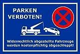 Schild Park-verbot - Parken verboten - 15x10cm | stabile 3mm starke PVC Hartschaumplatte – S00020C-E +++ in 20 Varianten erhältlich