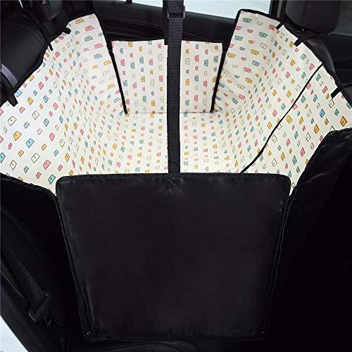 RuiHuang Coprisedile per Auto Sedile per Animali Domestici per Sedile Posteriore con Laccio di Sicurezza Protezione per Sedile Posteriore Amaca Carrier Car Car Color F Seat