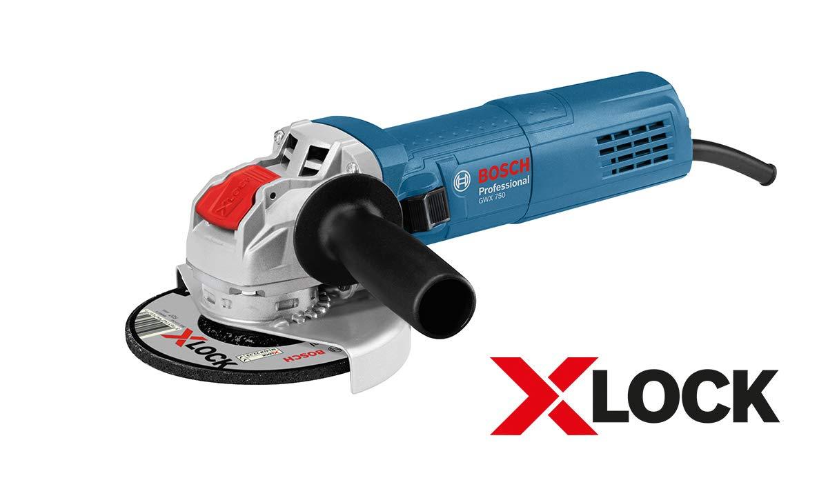 Bosch Professional GWX 750-125 (0615990L6U) Winkelschleifer, 750 W, blau, 125 mm