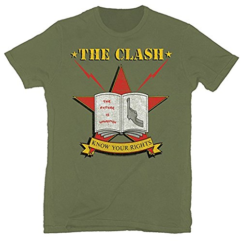 The Clash Know Your Rights 1982 Tour Soft T-Shirt (Tour T-shirt 1982)
