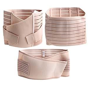 TININNA 3 in 1 Breathable Elastic Postnatal Pregnancy Support Belt Recovery Belly Waist Pelvis Belt Shapewear for Women Maternity L