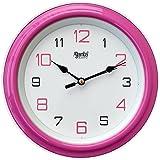 Ajanta Plastic Round Wall Clock (20.5 cm x 20.5 cm x 3.5 cm, Pink)