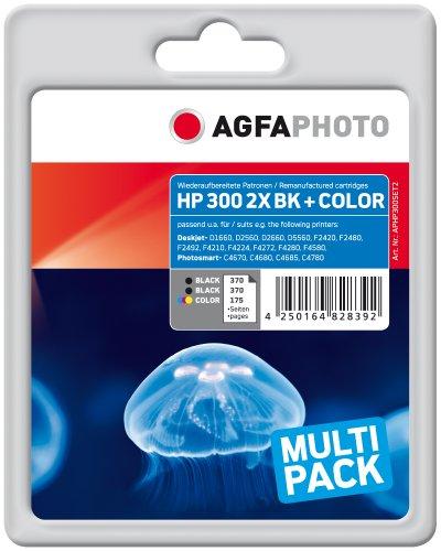 AgfaPhoto APHP300SET2 Tinte für HP DJD2560, 14 ml schwarz und 12 ml...