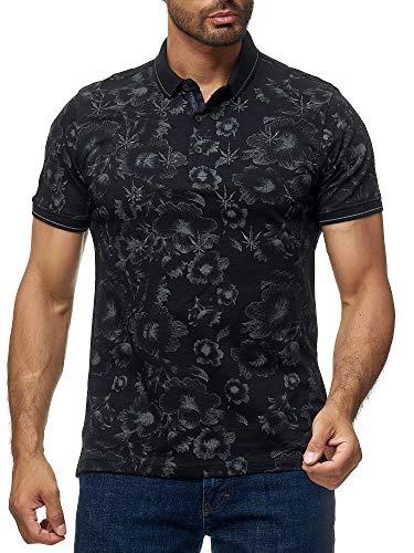 SCAMM Herren Polo Shirts Slim Sommer in Hawaii ET5040 (schwarz, XXL)