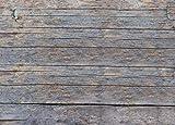 1art1 77564 Landhausstil - Grobe Holzwand, 2-Teilig Fototapete Poster-Tapete 240 x 180 cm