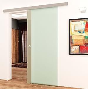 voll satinierte glas schiebet r siebdruck f r innenbereich komplett in 775 x 2050 mm. Black Bedroom Furniture Sets. Home Design Ideas