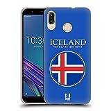 Head Case Designs Isländische Fahne Fahnen Flicken Soft Gel Hülle für ASUS Zenfone Max (M1) ZB555KL