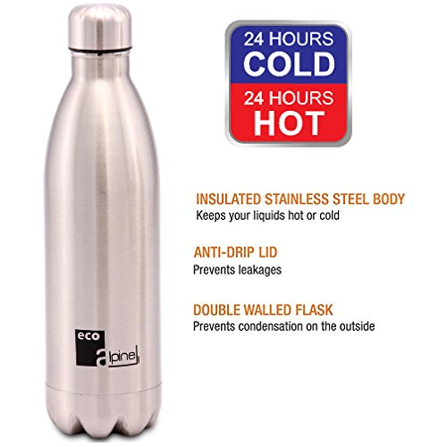 Eco Alpine Stainless Steel Hot and Cold Thermoflask Bottle - 750 ML  available at amazon for Rs.599