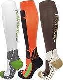 normani Sport Kompressionsstrumpf Compression Running Socks - Kniestrümpfe Farbe Orange/Schwarz Größe 39/42