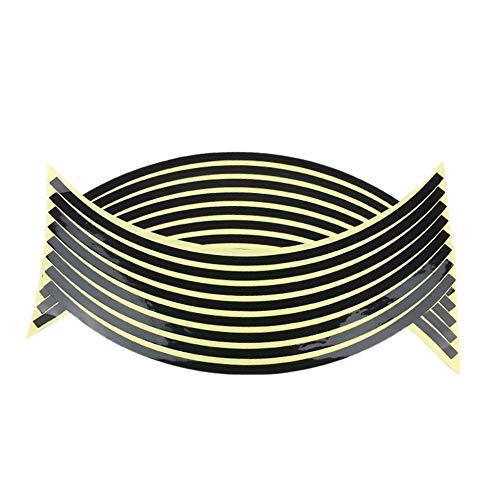 Schwarzes Fluoreszierendes Motorrad Felgenband Aufkleber Rad Streifen Aufkleber Für Motorradfelgen Zubehör Aufkleber Kits 18