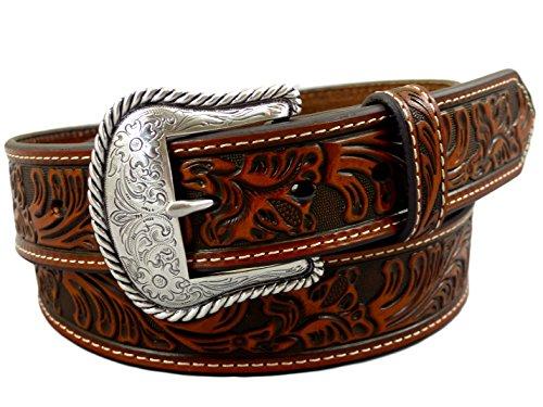 Nocona USA Western Gürtel floral tooled Cowboy Cowgirl 38