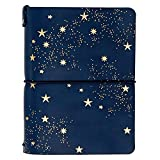 Erin Condren On The Go Folio - Starry Sky, Small Size Holder Case to Protect Your Petite Planners and Petite Journals for Travel. Stylish and Easy Elastic Band Enclosure