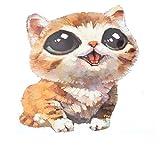 Souarts 1PC Motif Cartoon Chat Transfert Textile pr DIY T-shit Pull 21cmx15.5cm