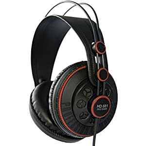 Superlux HD681 Semi-Open Professional Monitoring Headphones - Deep Low Frequency