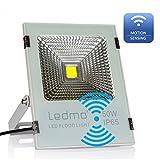 LEDMO Projecteur LED Detecteur 50W blanc froid 6000K projecteur led exterieur avec detecteur de mouvement Capteur Éteint Auto pendant la journée Lumière de sécurité IP65 imperméable pour jardin