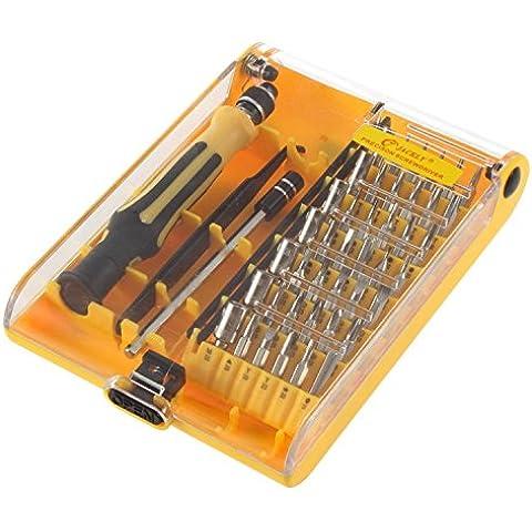 Japace® A set 45 en 1 Profesional Apertura portátil Kit de herramientas destornilladores de precisión Herramientas de mano compacto destornillador Set con pinzas Opening Tool Precision Screwdriver Hand Tools Compact Screwdriver Kit Set with Tweezers