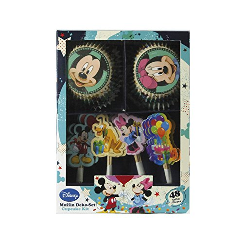 Dekoback 01-14-00731 Muffinset Mickey Mouse, 48 teilig Cupcake Muffin Backen