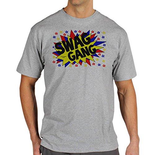 SWAG GANG Explode Herren T-Shirt Grau
