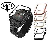 qualiquipment Aluminium Hülle kompatibel mit Apple Watch, qualiquipment iWatch Zubehör Case Bumper Cover Schutzhülle in den Größen 42mm/38mm für Series1, Series2, Series3 (42mm Schwarz)