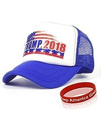 a8030a65d226 Donald Trump Hat, Trucker Hat, Casquette de Baseball et Bracelet «Trump  2018»