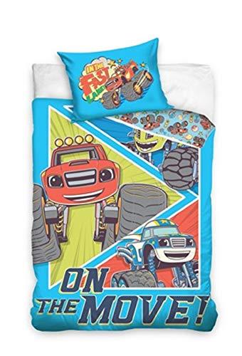 Blaze und die Monster Maschinen Kinderbettwäsche Babybettwäsche 100x135 cm + 40x60 -