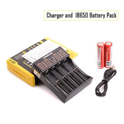 Galleria fotografica L'lysColors Pile e caricabatterie - 2 pz 18650 batterie ricaricabili e caricabatteria intelligente USB a 4 slot